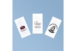 Napkin with logo 33*33cm, white 3ply, 1/8