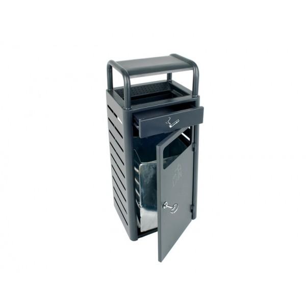 Waste bin ash tray 20l 2 3l outdoor dark grey hotellitarbed for Dark grey bathroom bin