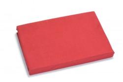 Voodilina kummiga 90*200 cm, trikotaaž, punane