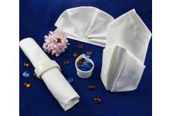 Napkin 56*56 cm, white, 100% cotton, frame