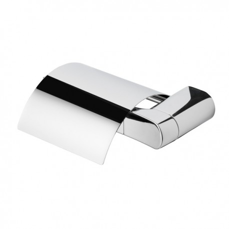 Toilet roll holder with cover, left version Geesa