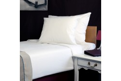 Bed sheet double 280*320 cm white