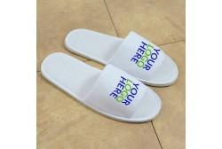 Logoed slipper, open toe (5 mm eva sole)