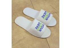 Logoed slipper, open toe (3 mm sole)