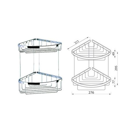 Corner basket double, large Geesa