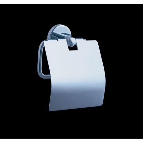 Toilet paper roll holder with cover