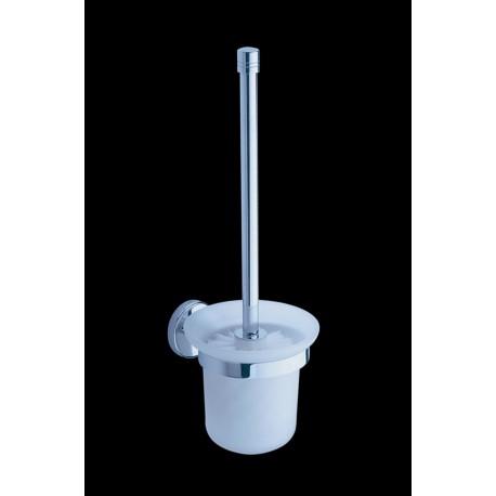 Toilet brush + glass holder, wall mounted