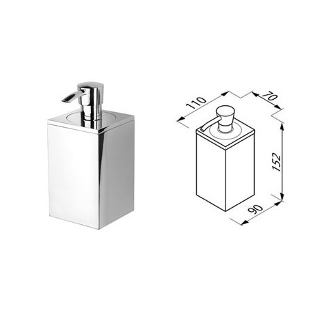 Soap dispenser, bottle 200 ml, wall mounted Geesa