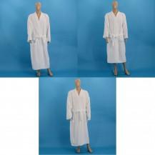 White velour bathrobes