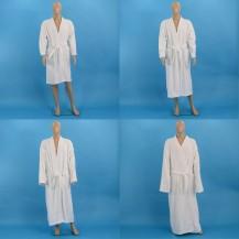White terry bathrobes