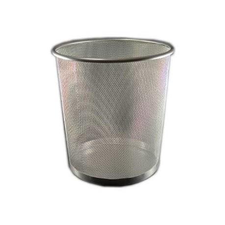 Metallic bin 14L, grey