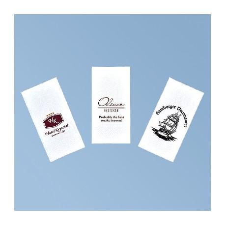 Napkin with logo 33*33cm, white 3ply, 1/8