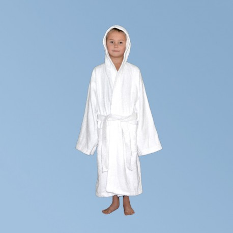 Terry bathrobe with hood S, for kids