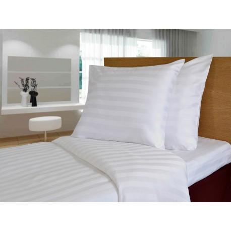 Pillow case 53*65 cm with pocket, TC200, satin stripe (2.3 cm)