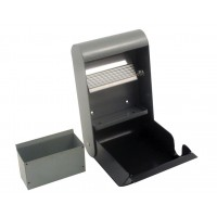 Wall ash tray 3 L, dark grey