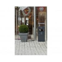 Outdoor ash tray - recycle bin, dark grey