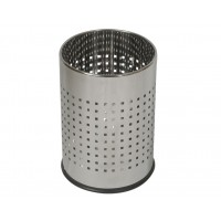 Round perforated waste basket 10 L, chrome