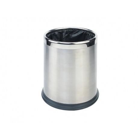 Round waste basket 10L - Stainless steel