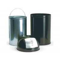 Waste bin round 40 L, black