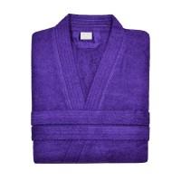Махровый халат фиолетовый XL