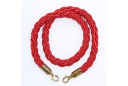 Barrier rope red 1.5 m, golden hook
