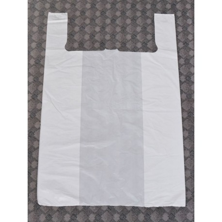 Laundry bag, plain white, plastic
