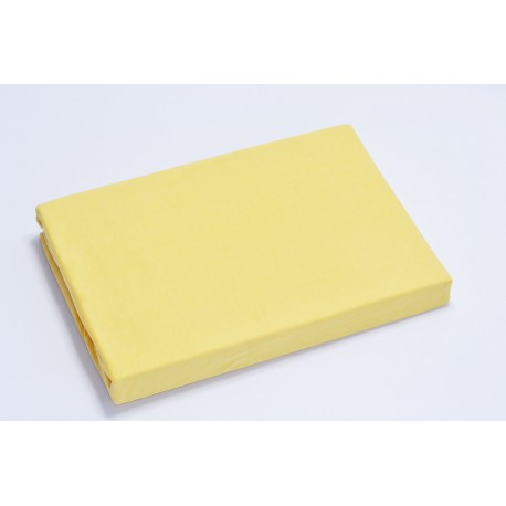 Jersey knit bed sheet 90*200 cm, yellow