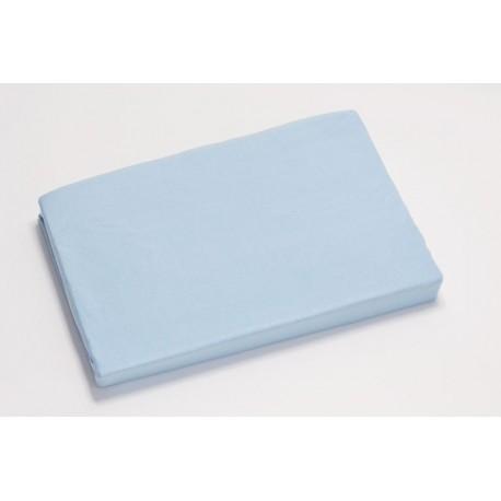Jersey knit bed sheet 90*200 cm, light blue