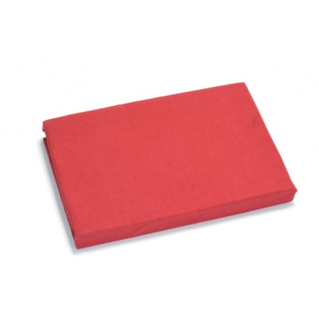 Jersey knit bed sheet 90*200 cm, red