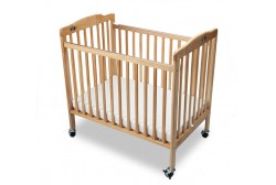 Baby crib (foldable), natural wood