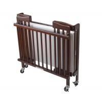 Baby crib (foldable), dark brown