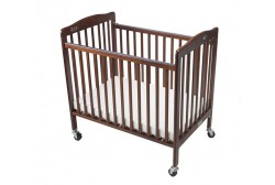 Baby crib (foldable), dark brown