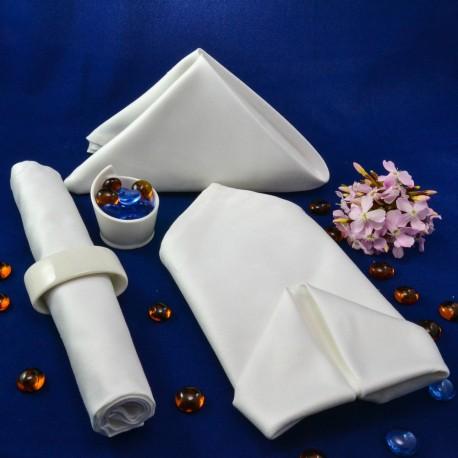 Салфетка 50*50 см, белая, 100% хлопок