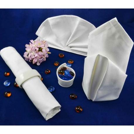 Белая салфетка 56*56 см, с атласной каймой, 100% хлопок