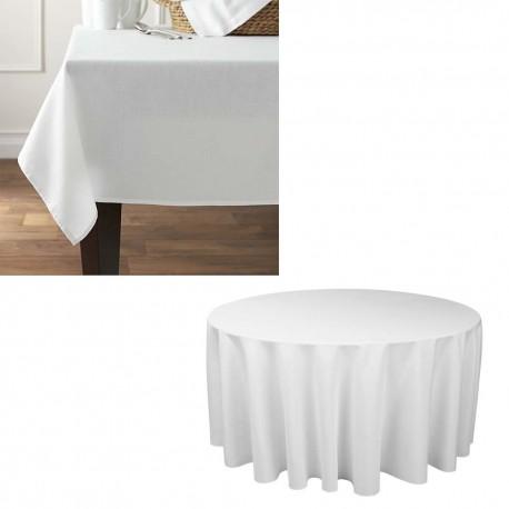 Laudlina (ruut) 160*160 cm valge, 50% PV/50% PE