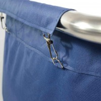 Тележка для грязного белья, синий мешок