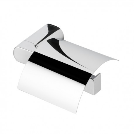 Toilet roll holder with cover, right version Geesa