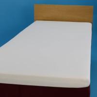 Jersey knit bed sheet 90*200 cm, white