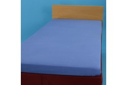 Jersey knit bed sheet 90*200 cm, blue