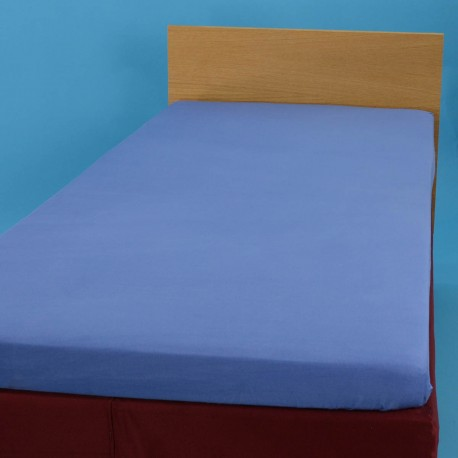 Jersey knit bed sheet 90*200 cm, blue