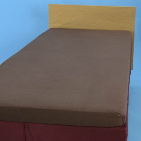 Jersey knit bed sheet 90*200 cm, brown