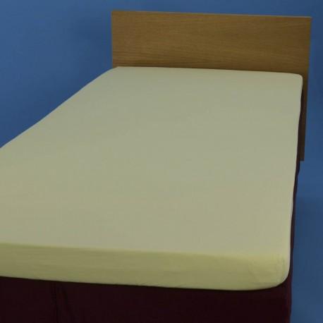 Jersey knit bed sheet 90*200 cm, light green