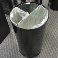 Мусорная корзина металл черный 60 L, 3 части