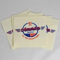 Салфетки с логотипом цветные 33*33 см
