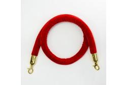 Красный канат ограждения велюр 1.5м