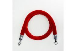 Piirdeköis veluur punane 1,5m (hõbe konks)