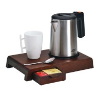 Wooden tray for water kettle
