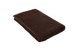 Dark brown terry towel 75*150 cm