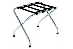 Metallic chrome luggage rack