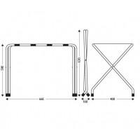 Metallic chrome luggage rack